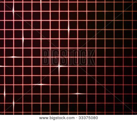 Red Laser Light Grid Background