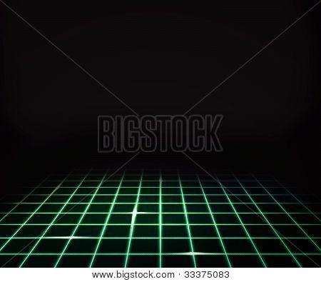 Green Virtual Laser Floor Background