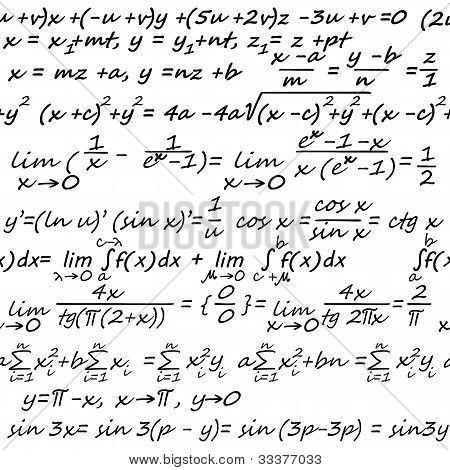 Fondo transparente de álgebra
