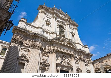Church of St. Irene. Lecce. Puglia. Italy.