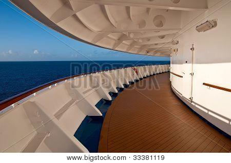 Promenade deck of a cruise ship