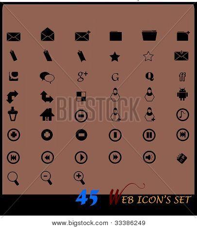 Iconos de negros & w