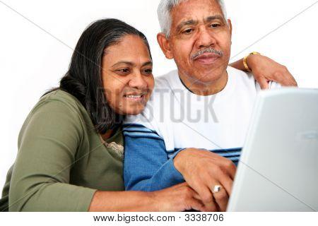 Seniors On Computer
