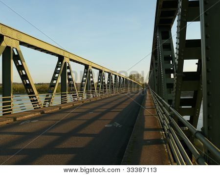 Steel bridge Rosiers sur Loire France