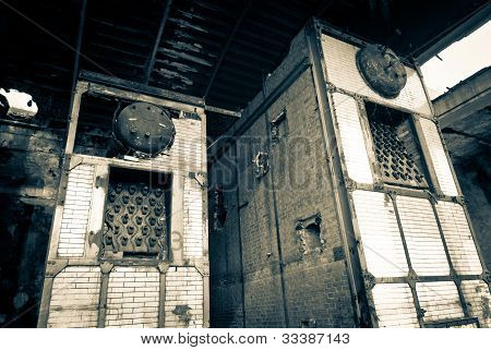 abandoned industrial boilers