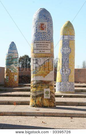 Ceramic monoliths, Talavera, Toledo, Spain