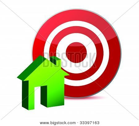 target and house illustration design over white