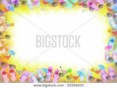 Flip-flop divertido quadro