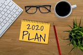 New Year Resolution Goal List 2020 Target Setting poster