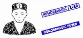 Mosaic Medic Pictogram And Rectangle Stamps. Flat Vector Medic Mosaic Pictogram Of Random Rotated Re poster