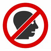 No Angry Person Raster Icon. Flat No Angry Person Symbol Is Isolated On A White Background. poster
