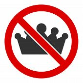No Monarchy Raster Icon. Flat No Monarchy Pictogram Is Isolated On A White Background. poster
