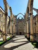 foto of carmelite  - Carmo convent church ruins in Lisbon Portugal - JPG