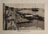 Italy - Circa 1910: A Picture Printed In Italy Shows Image Of Venice Grand Canal With Ships And Gond
