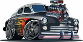 picture of muscle-car  - Vector hot rod of retro soviet car (engine full complete).
