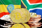 Concept For Investors In Cryptocurrency And Blockchain Technology In The Ethiopia And South Africa.  poster