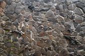 Stone Wall. Wall Of Wild Stone. Stone Background. Stone Texture For Creativity. poster