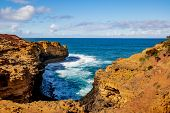 The Grotto. Sinkhole Geological Formation. Australia Landscape. Great Ocean Road, Victoria, Australi poster