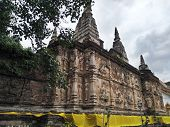 Old Pagoda In Wat Chedi Chet Yod Temple Travel To Chiang Mai poster