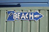 To Beach Sign At Ferring. England