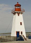picture of acadian  - Lighthouse in northern New Brunswick in Canada