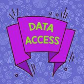 Handwriting Text Data Access. Concept Meaning A User S Is Ability To Access Data Stored Within A Dat poster