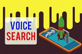 Handwriting Text Voice Search. Concept Meaning Allows The User To Use A Voice Comanalysisd To Search poster