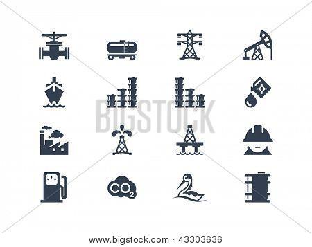 Iconos de la industria de aceite