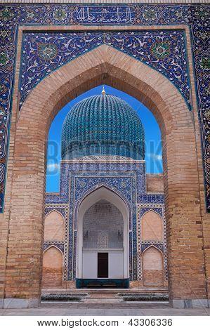 The Mausoleum Of The Asian Conqueror Tamerlane In Samarkand, Uzbekistan