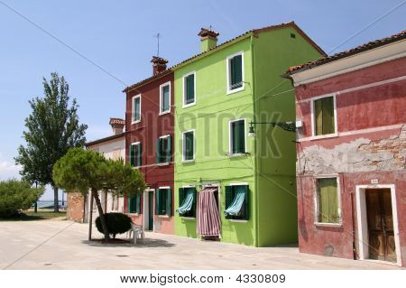 Coloured Houses In Burano