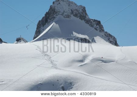 The Point Helbronneur On The Mt Blanc