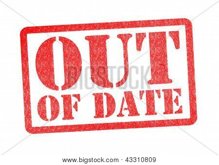 Out Of Date Rubber Stamp