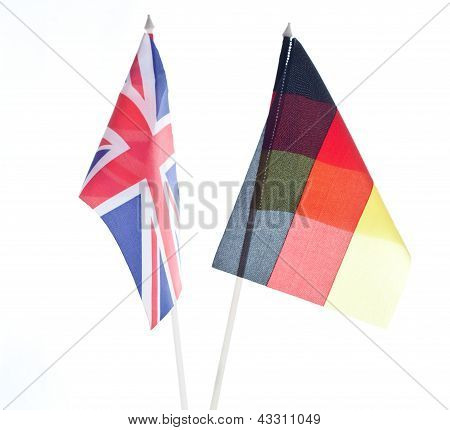 Great Britain British Flag and Flag of Germany