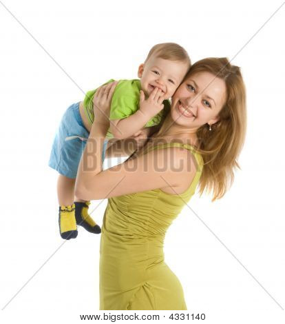 Happy Mother With Her Little Boy