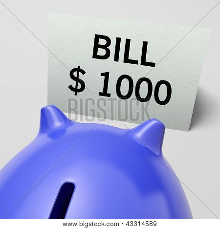 One Thousand Dollars, Usd Bill Showing Expensive Taxes