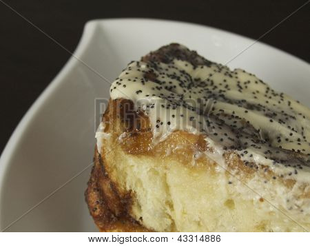 Orange Poppyseed Cinnamon Bun