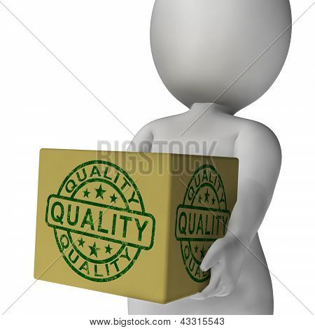 Quality Stamp On Box Shows Excellent Superior Premium Product