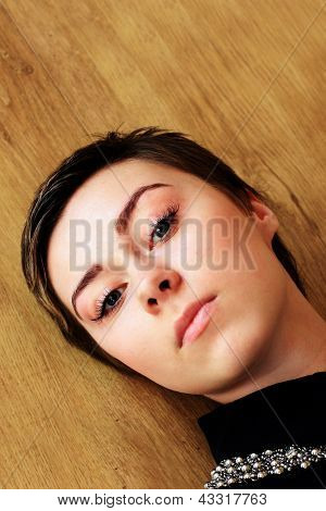 Teenage girl face