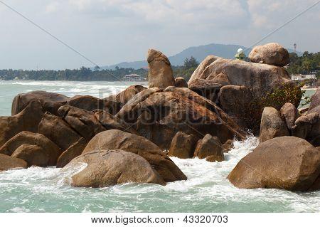 Grandfather Rock On Koh Samui, Thailand