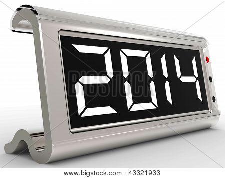 Calendario de escritorio muestra año 2,014 mil