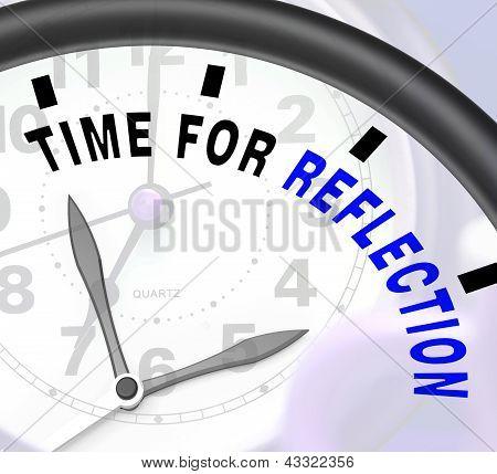 Zeit für besinnung Nachricht bedeutet Nachdenken oder reflektieren