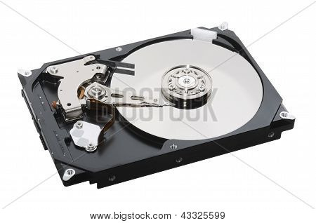 hard disk open isolated