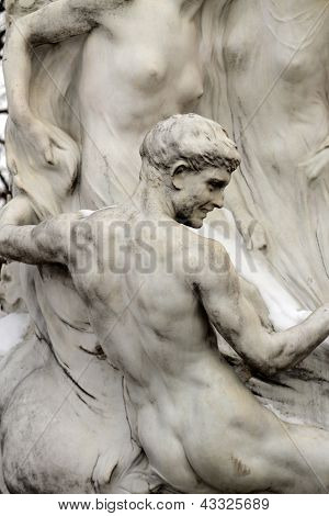 Detail from the Strauss Monument in Vienna
