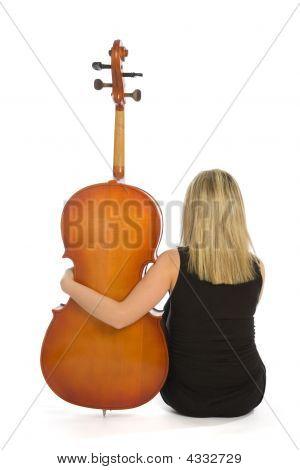 Woman Musician With Cello