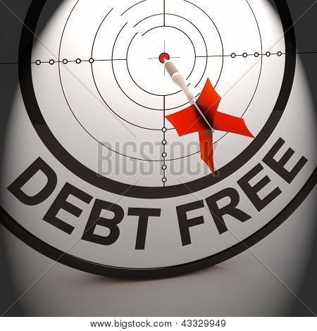 Debt Free Shows Cash And Credit Freedom