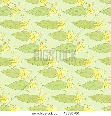 ylang-ylang, seamless background