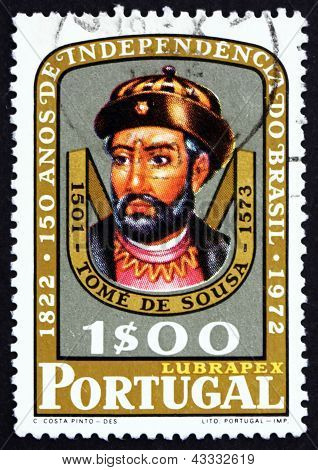 Postage Stamp Portugal 1972 Tome De Sousa, Nobleman And Soldier