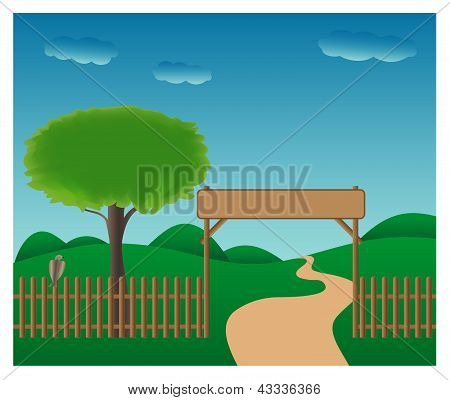 Ilustrated gateway to the countryside