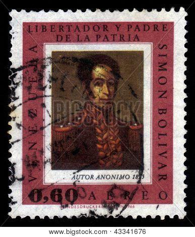 Portrait Of Simon Bolivar, By An Unknown Artist