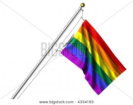 Isolated Rainbow Flag